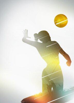 Affisch Volleyboll platt design bakgrund