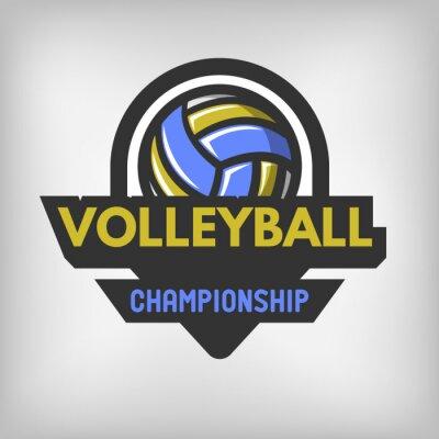 Affisch Volleyboll sportlogo.