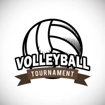 Affisch volleyboll utformning