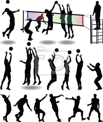 Affisch volleybollspelare