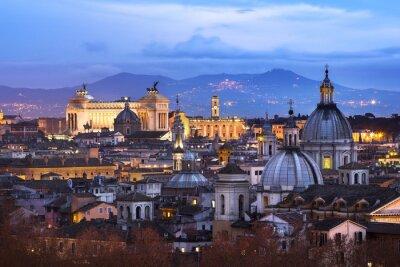 Affisch Vue des Toits de Rome