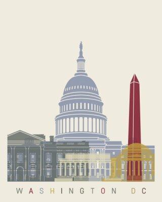 Affisch Washington DC skyline affisch