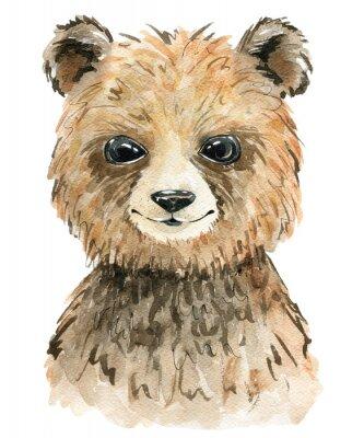 Affisch Watercolor cute bear.