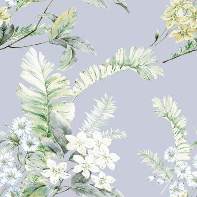 Affisch Watercolor flowers illustration