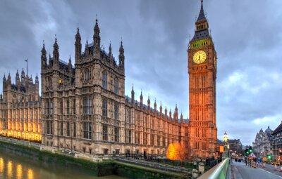 Affisch Westminster Big Ben