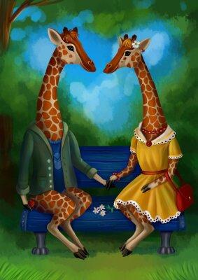 Affisch Жираф на свидание