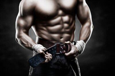 Affisch красивое мужское тело