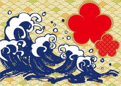 Affisch 海 毛筆 梅