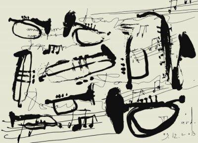 Affisch Музыкальные инструменты