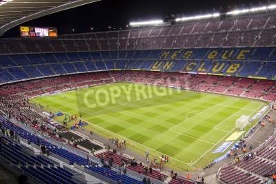 Affisch BARCELONA - DECEMBER 16: Vy över Camp Nou stadion innan den spanska ligan matchen mellan FC Barcelona och Atletico de Madrid, slutresultatet 4-1, den 16 december, 2012, i Barcelona, Spanien