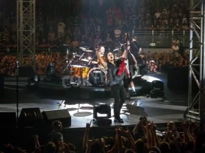 Affisch Konsert av bandet â € œMetallicaâ €, Rom 24 juni 2009. Bandet.