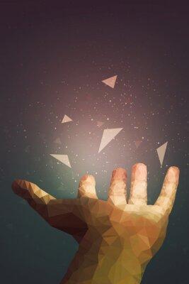 Affisch Människor är kraftfullare än de tror, din hand kan läka eller göra objektfluga i luften