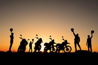 Affisch motorsiklet takımı