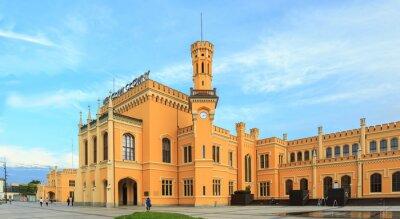 Affisch Återställd centralstationen i Wroclaw, Polen
