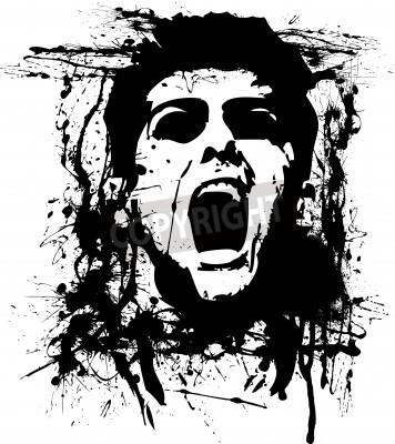 Affisch zombie skräck