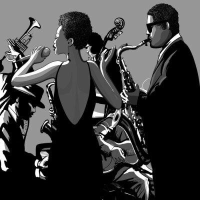 Canvastavlor 0009-jazzsångerska