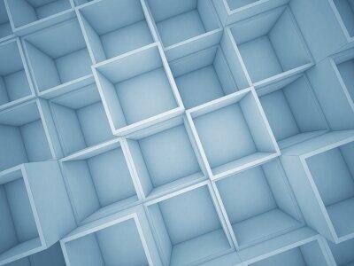 Canvastavlor 3d abstrakt kub bakgrund