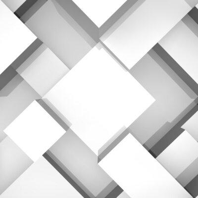 Canvastavlor 3d block struktur bakgrund. Vektor illustration.