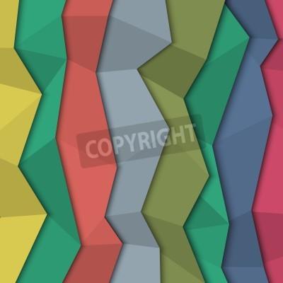 Canvastavlor 3d färgat papper bakgrund - origami stil.