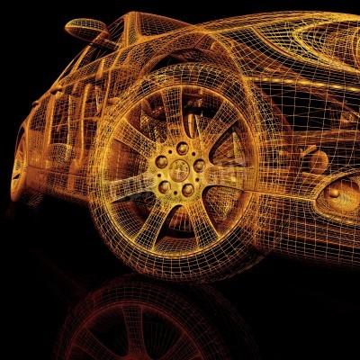 Canvastavlor 3d modellbilar