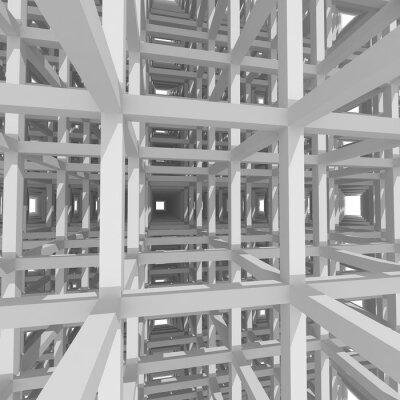 Canvastavlor 3d pelare och balkar, arkitektur bakgrund.