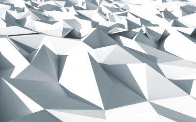Canvastavlor 3d Polygone beau Cristaux fond textur blanc
