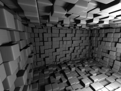 Canvastavlor Abstract Mörka kuber Vägg Room Bakgrund
