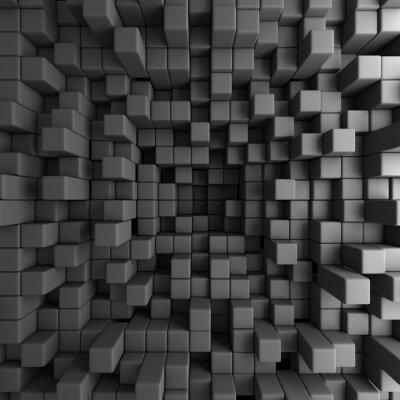 Canvastavlor Abstrakt 3D kuber Blocks Bakgrund Bakgrund