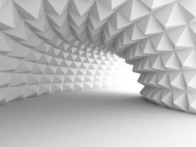 Canvastavlor Abstrakt arkitektur Tunnel med ljus bakgrund