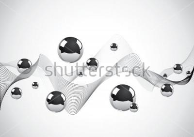 Canvastavlor Abstrakt bakgrund av en uppsättning metallbollar