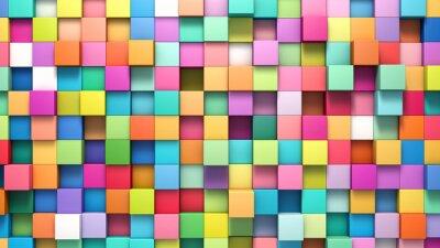 Canvastavlor Abstrakt bakgrund av flerfärgade kuber