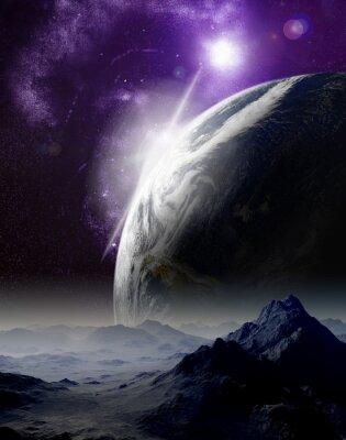 Canvastavlor Abstrakt bakgrund av rymden. I en avlägsen framtid resor. Ny