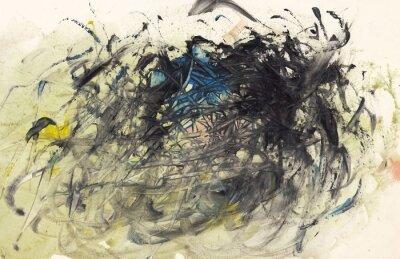 Canvastavlor Abstrakt bakgrund målning eller konst