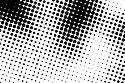 Canvastavlor Abstrakt bakgrund med svarta prickar.