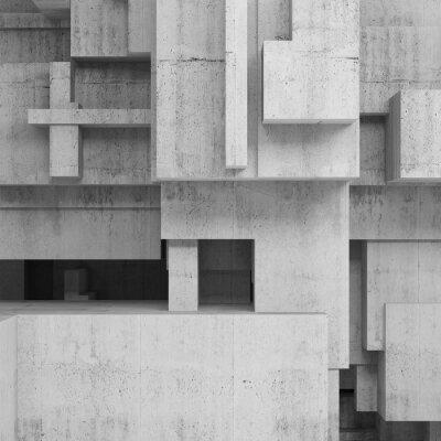 Canvastavlor Abstrakt betongkonstruktioner, fyrkantig bakgrund