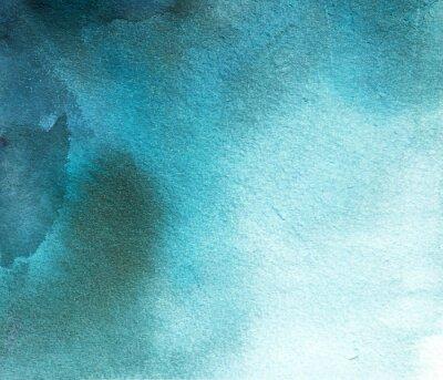 Canvastavlor abstrakt blå vattenfärg fläck, bakgrund, skilsmässa