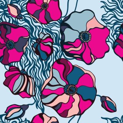 Canvastavlor Abstrakt blommor bakgrund. Seamless mönster