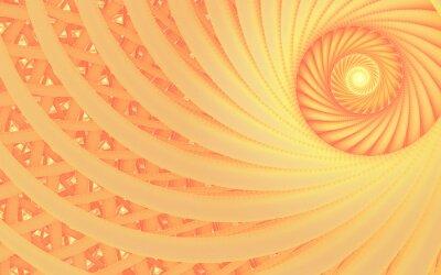 Canvastavlor Abstrakt fantasi virvel tunnel med anbud persika linjer