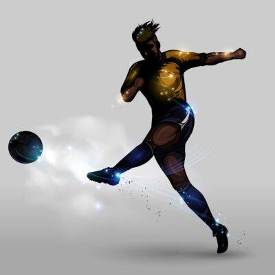 Canvastavlor Abstrakt fotboll effekt skytte