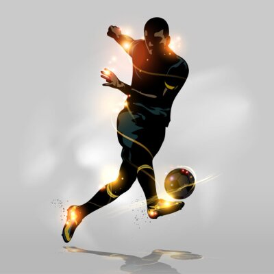 Canvastavlor Abstrakt fotboll snabb fotografering