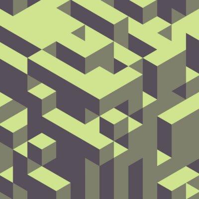 Canvastavlor Abstrakt geometrisk 3d färgstark bakgrund.
