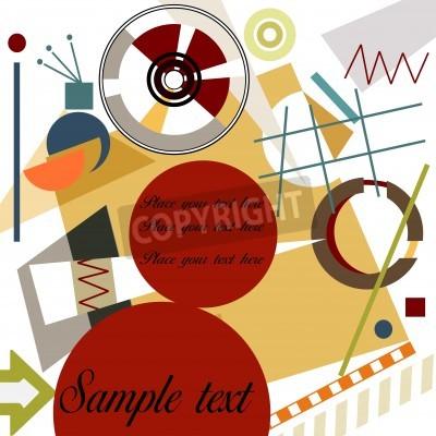 Canvastavlor Abstrakt geometrisk bakgrund; Herre Kandinsky stil