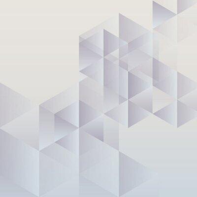 Canvastavlor Abstrakt geometrisk bakgrund, modern triangelformade