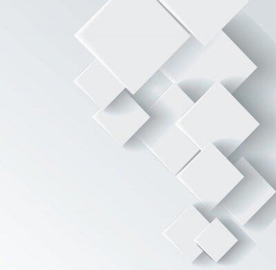 Canvastavlor Abstrakt geometrisk form från grå romb