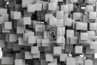 Canvastavlor Abstrakt geometriska kuber bakgrund 3d