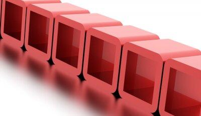 Canvastavlor Abstrakt geometriska kuber koncept återges