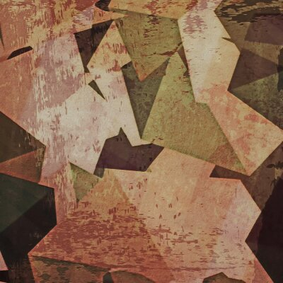 Canvastavlor Abstrakt grunge vägg bakgrund, kubism