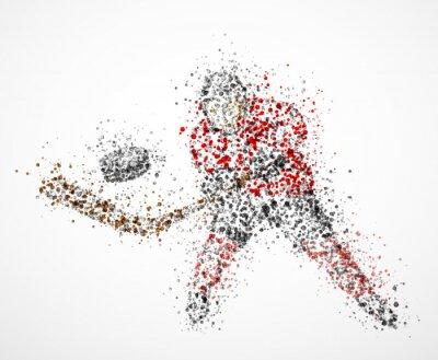 Canvastavlor Abstrakt ishockeyspelare