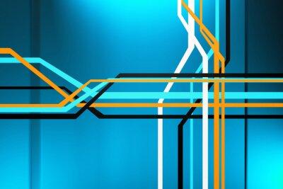 Canvastavlor abstrakt krets