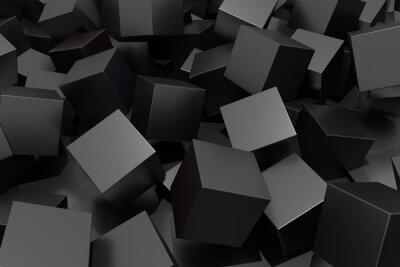 Canvastavlor abstrakt kub